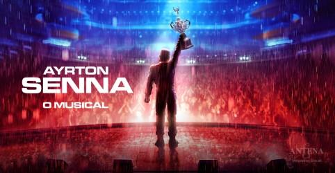 Banner da promoção Ayrton Senna - O Musical