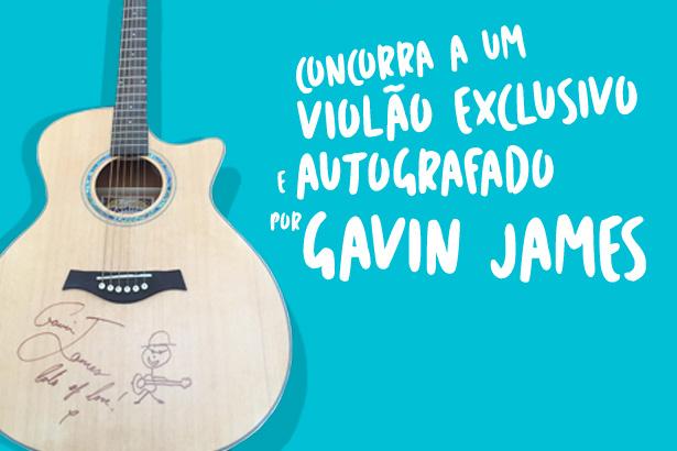 Placeholder - loading - Promoção - Concorra ao violão assinado por Gavin James
