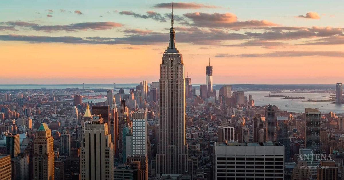 Empire States Building em Nova York nos Estados Unidos